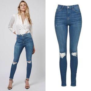 Topshop MOTO Authentic Rip Jamie Jeans Size 28